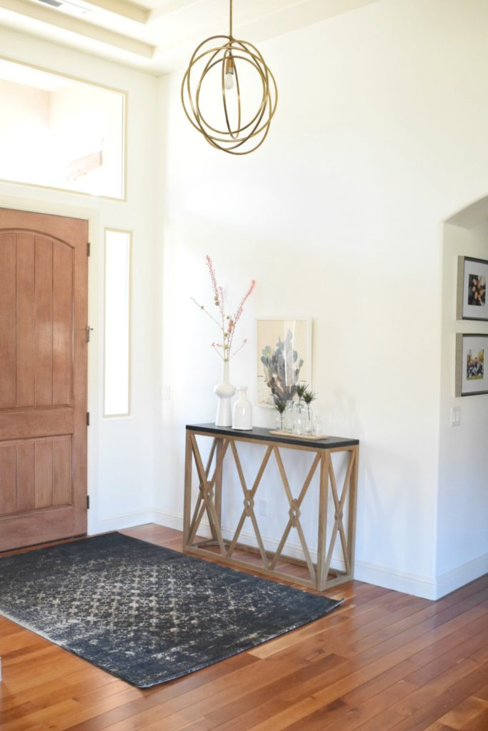 Entry and Modern Dessert Home Painted in Simply White