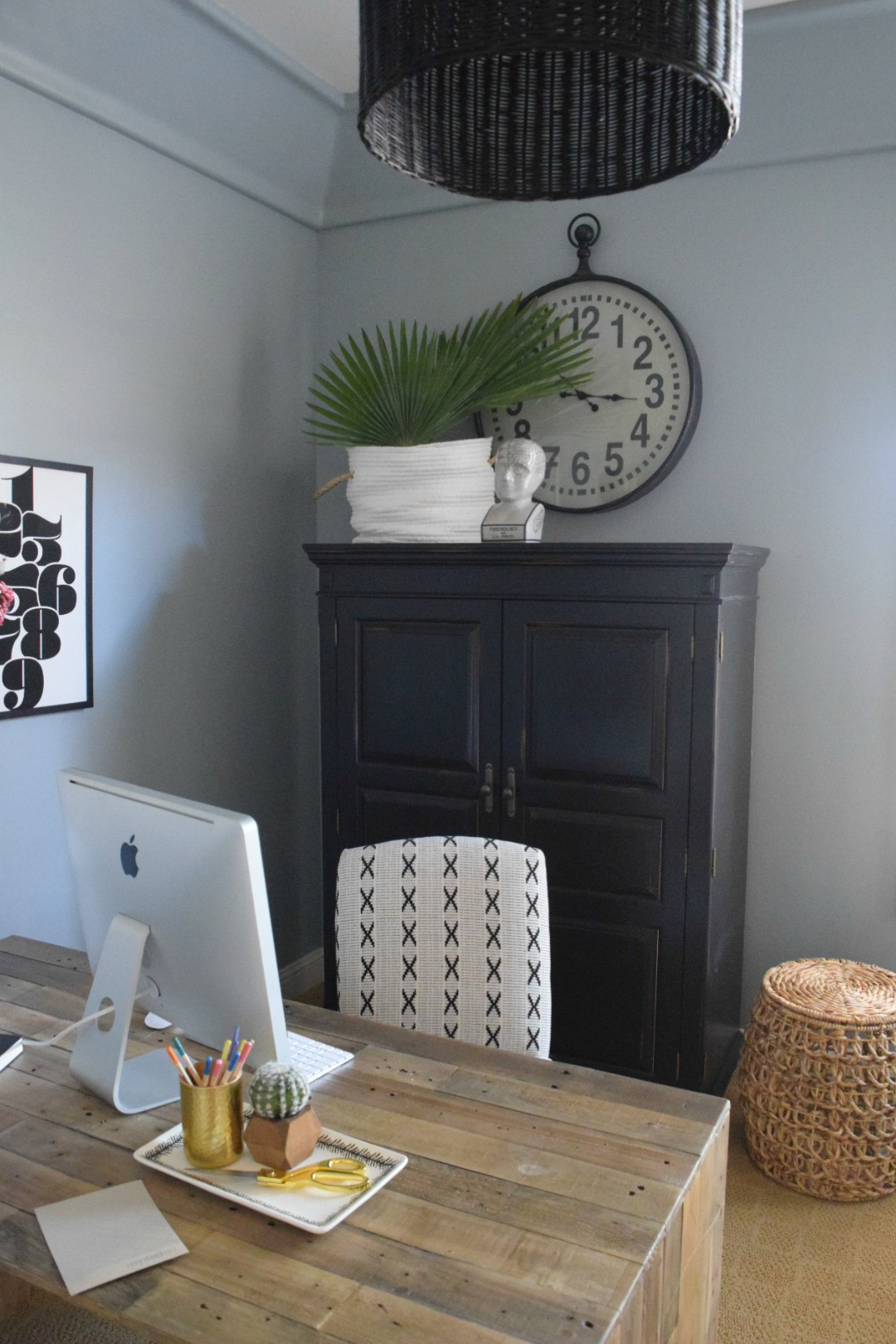 Home Office Client Before And After Nesting With Grace