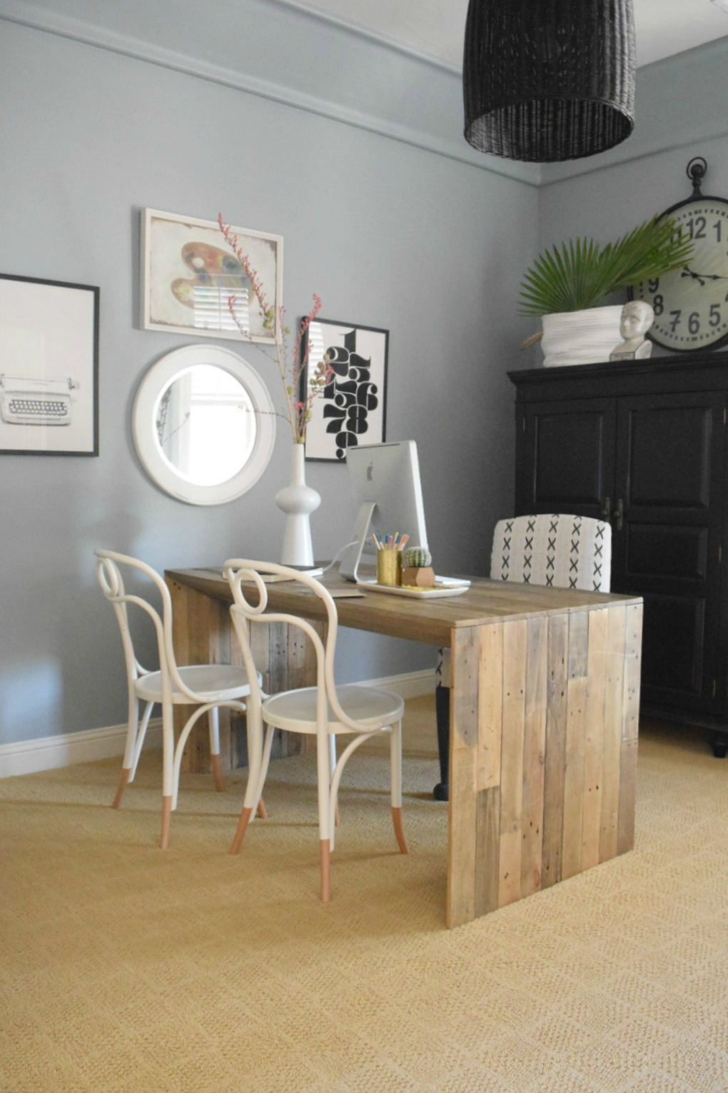 Home Office- Client Before and After - Nesting With Grace