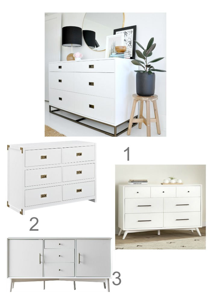 Friday Favorites- Inexpensive White Dressers as Credenzas