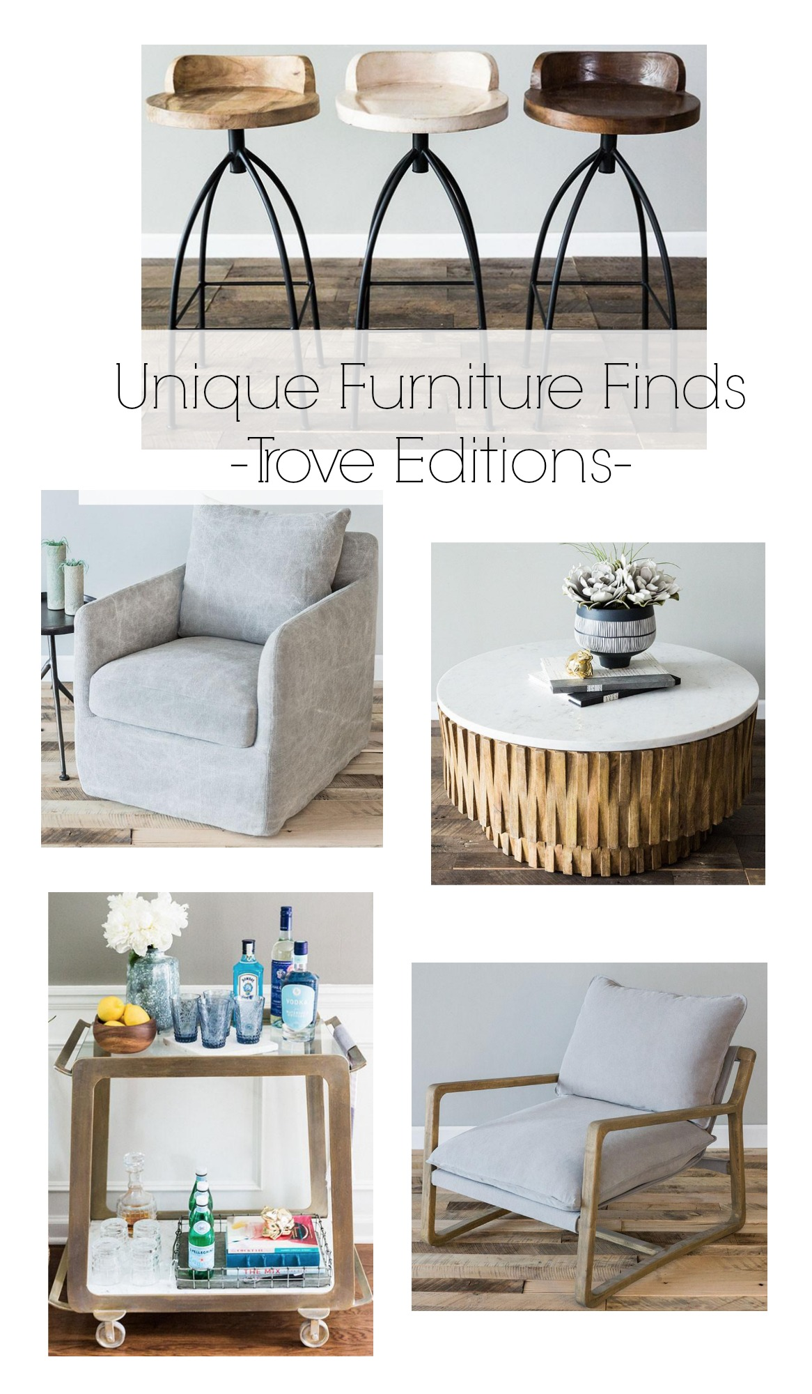 Where to Find Unique One of a Kind Furniture- Trove Editions