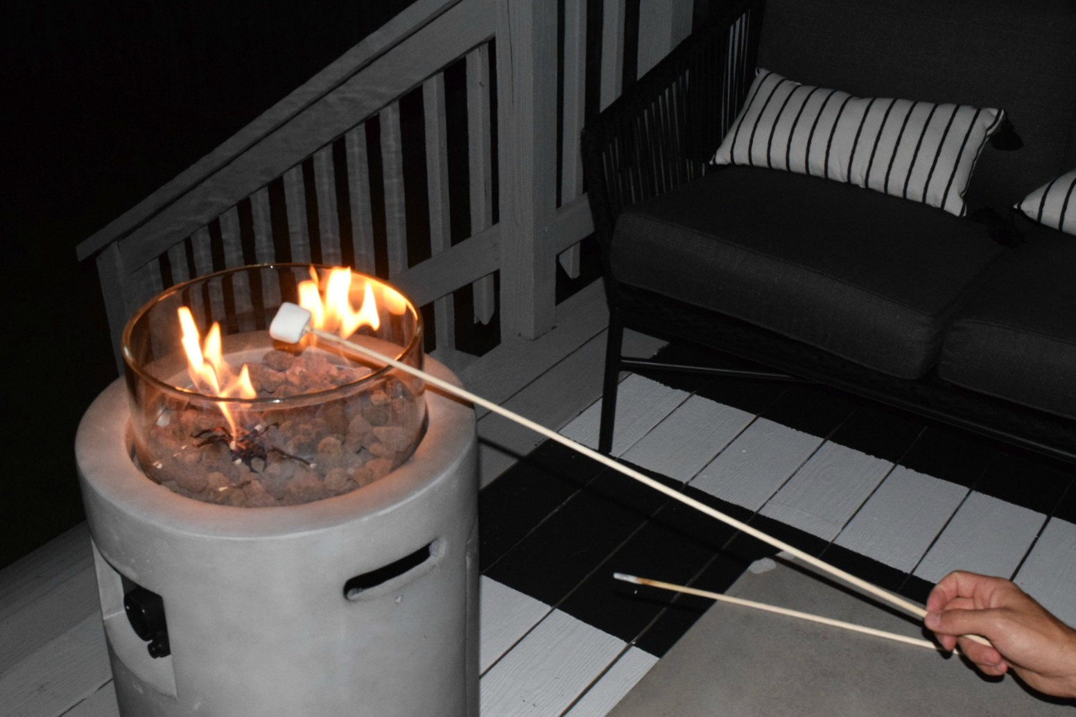 Home Decor Favorites- Small Gas Firepit