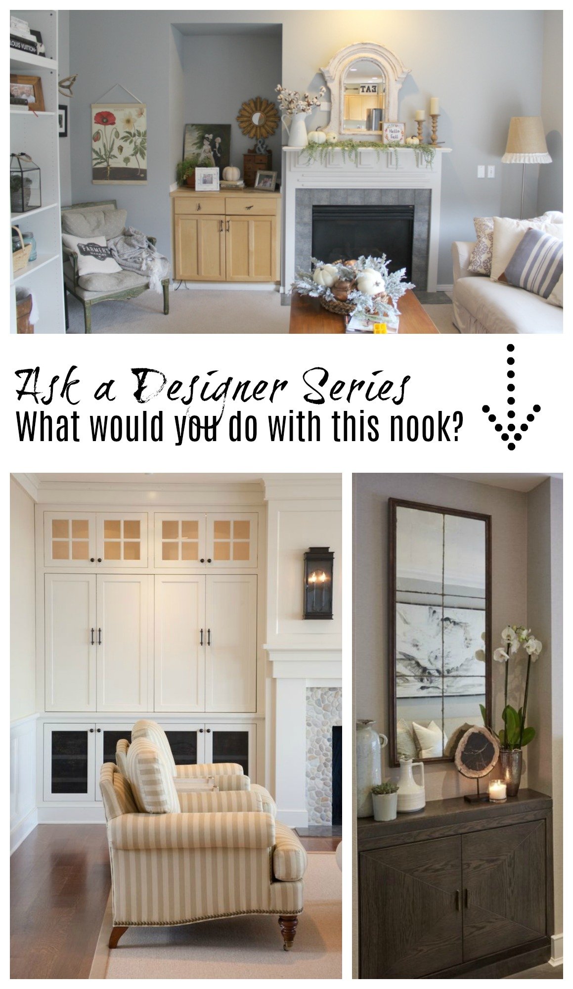 Ask a Designer Series- What would you suggest for this nook?