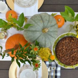 Fall Table Setting- Using What You Have