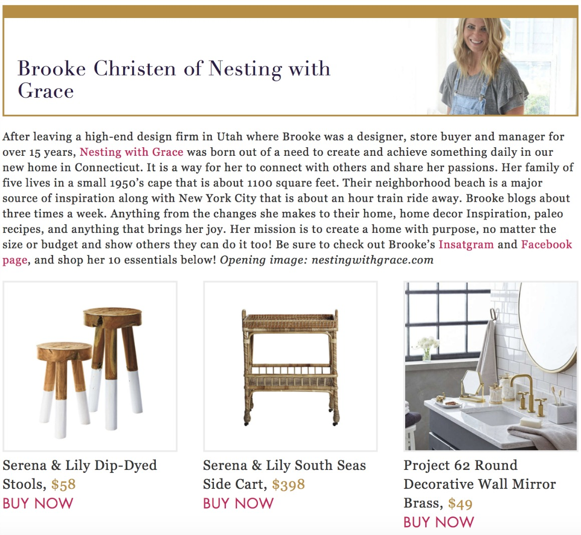 Favorite Things- Nesting with Grace