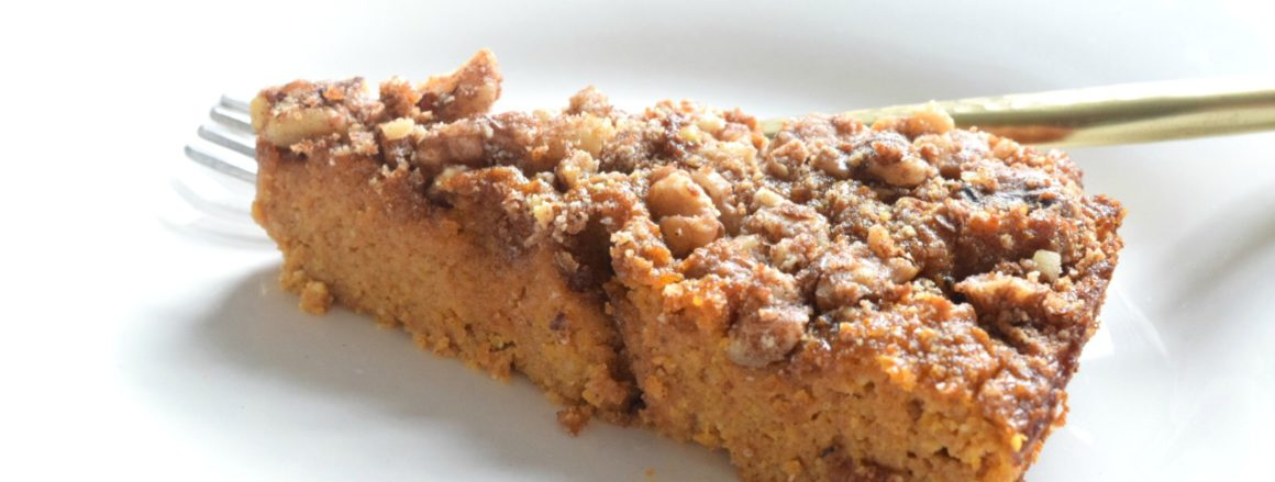 Pumpkin Crunch Cake- Paleo and Gluten Free Dessert