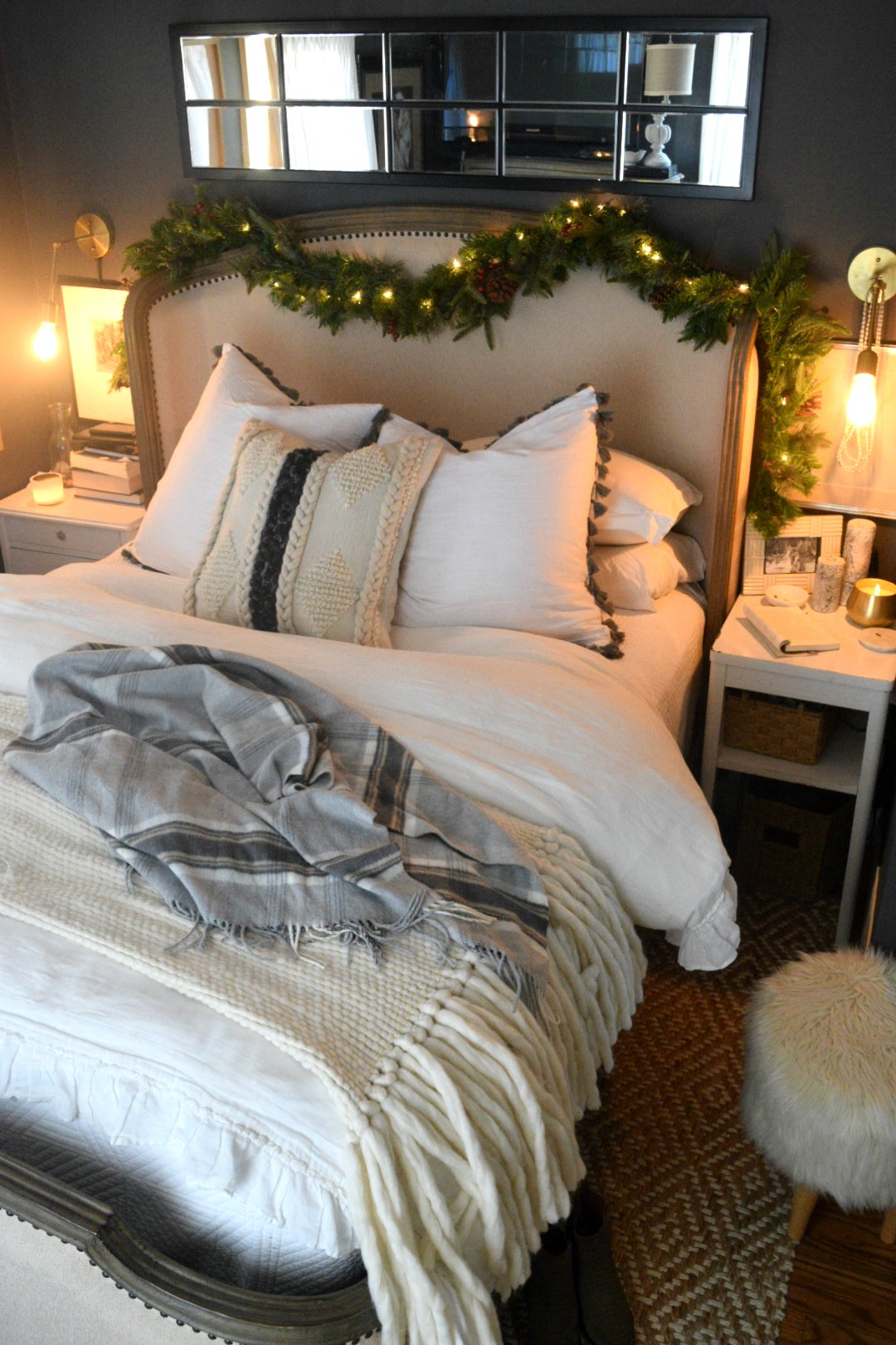 Christmas Bedroom Simple Winter Touches Nesting With Grace