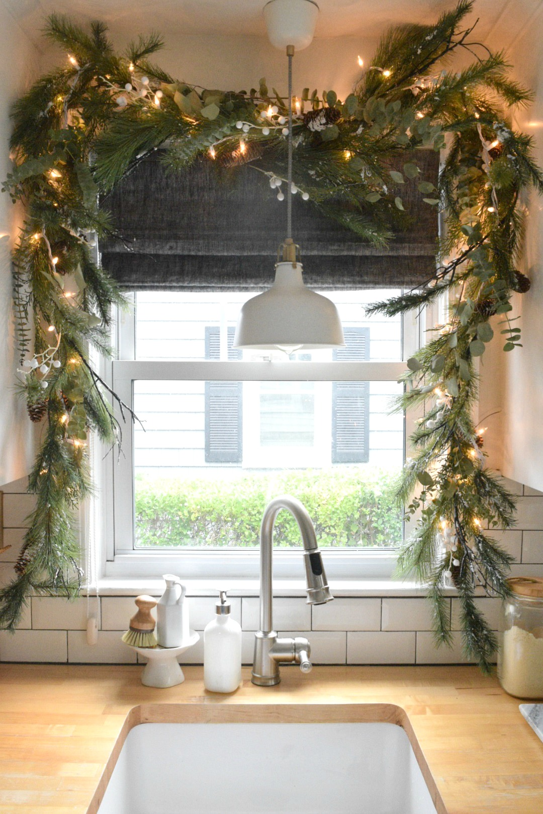 Christmas In Our Small Kitchen Started With Christmas Garland Nesting With Grace