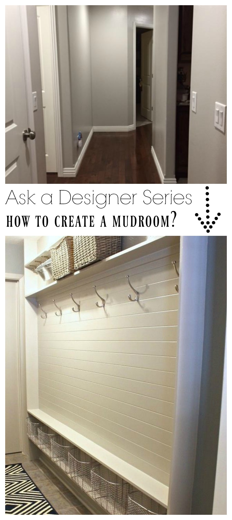Ask a Designer Series- Ideas for a Mudroom in a Small Space?