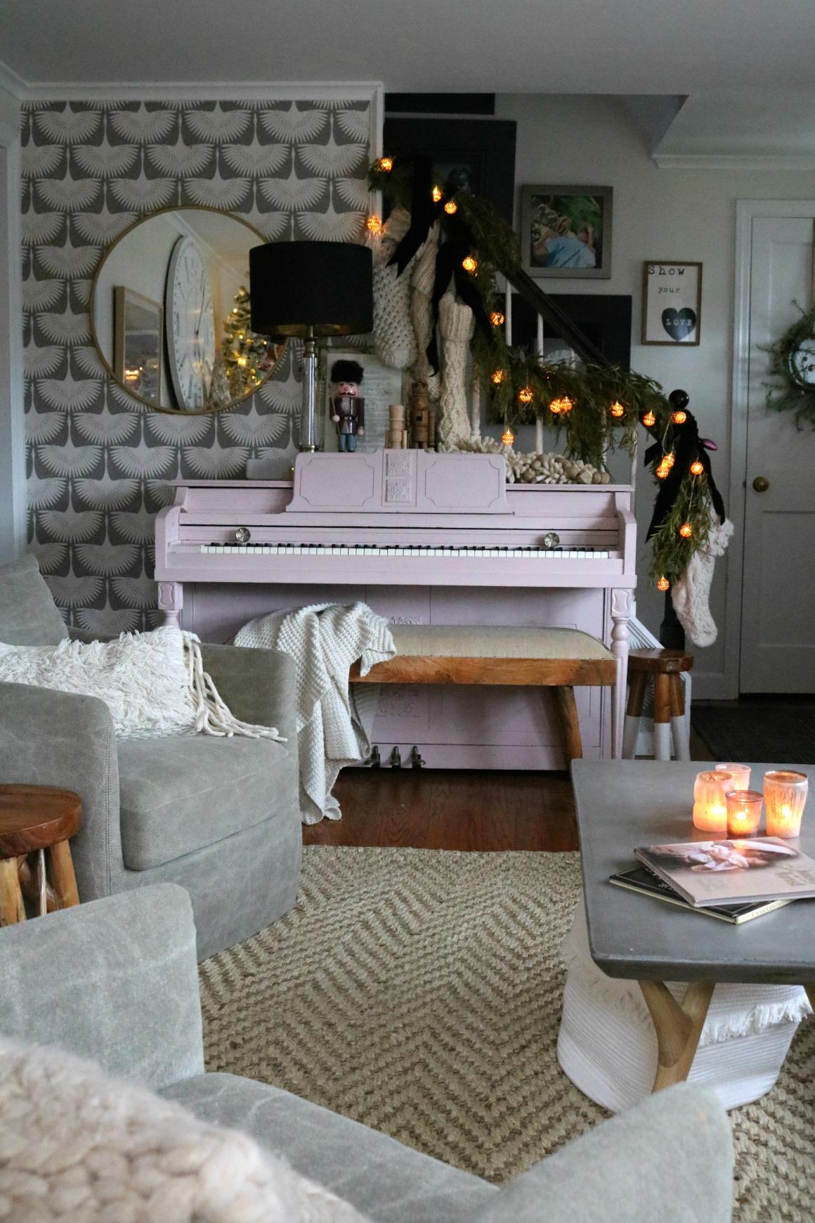 Chalk Painted Piano- DIY Paris Gray-