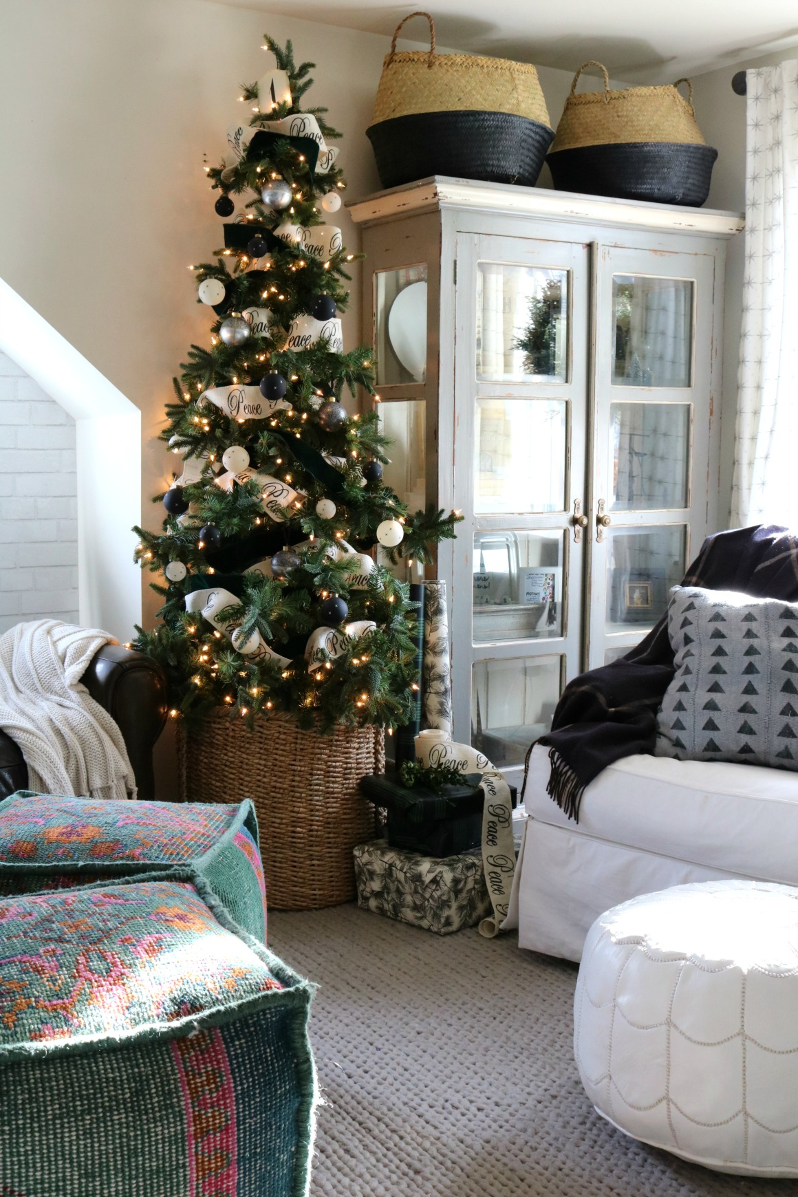 Christmas Ideas In A Small Space Upstairs Tour Nesting With Grace