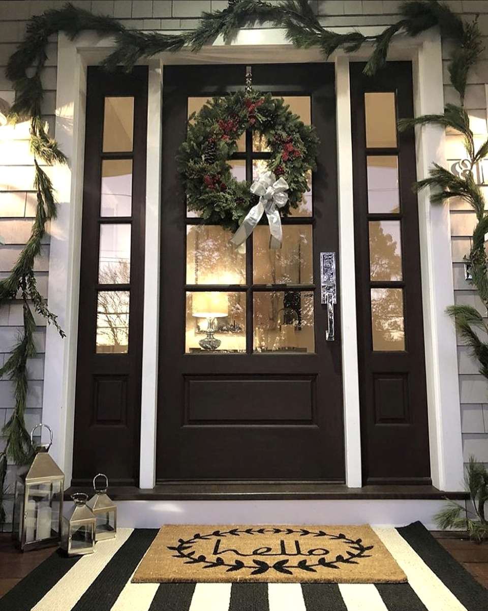 Christmas Entry Ideas- Layered Doormat