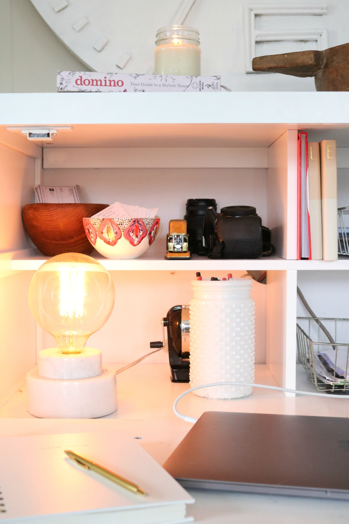 How to Manage Cords and Papers- Organizing Small Spaces 00