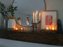 Fireplace Makeover- DIY and Target Decor
