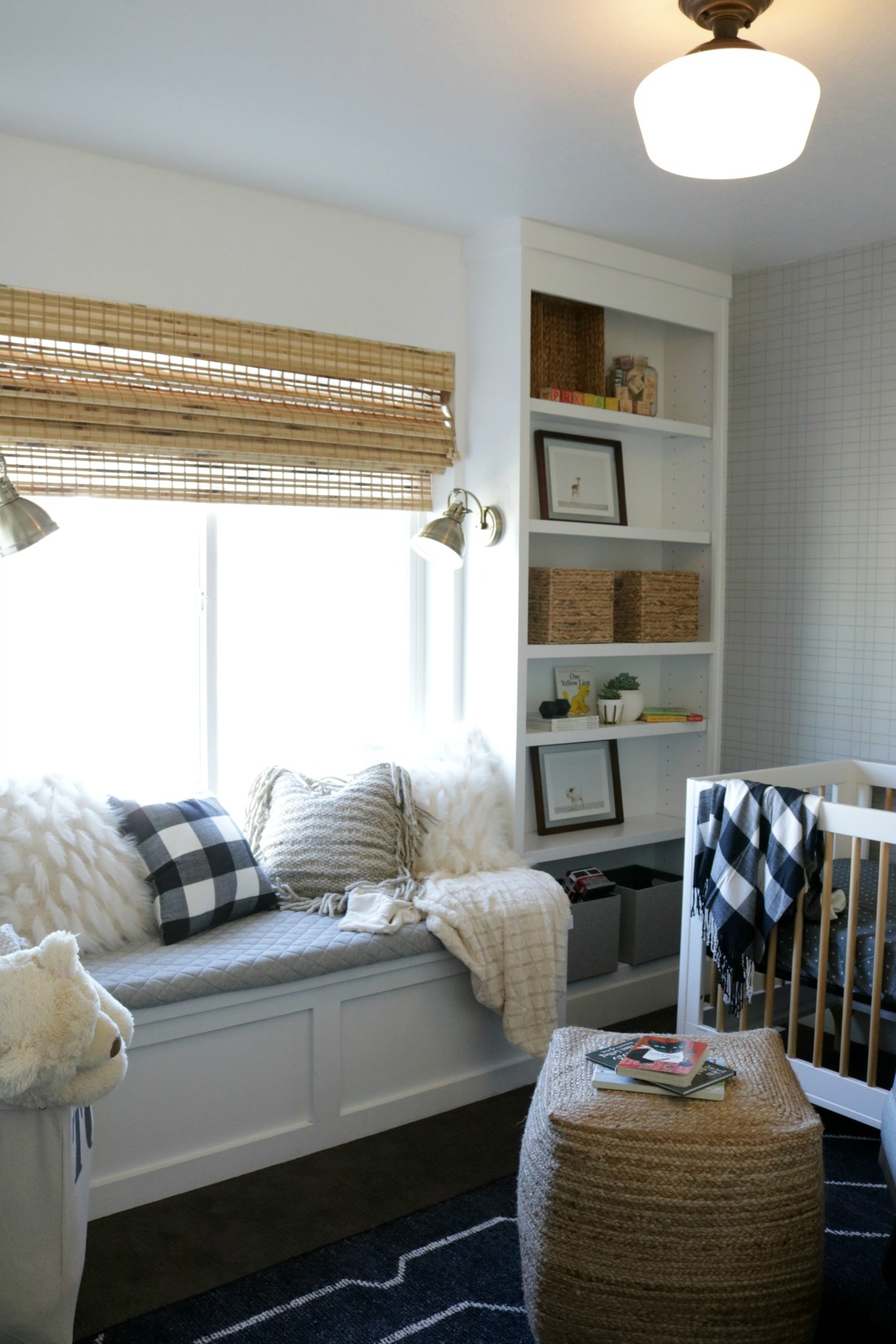 Window Seat and Built-In Bookcase DIY under $150