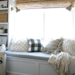 How to Build a Window Seat and Built-In Bookcase Tutorial