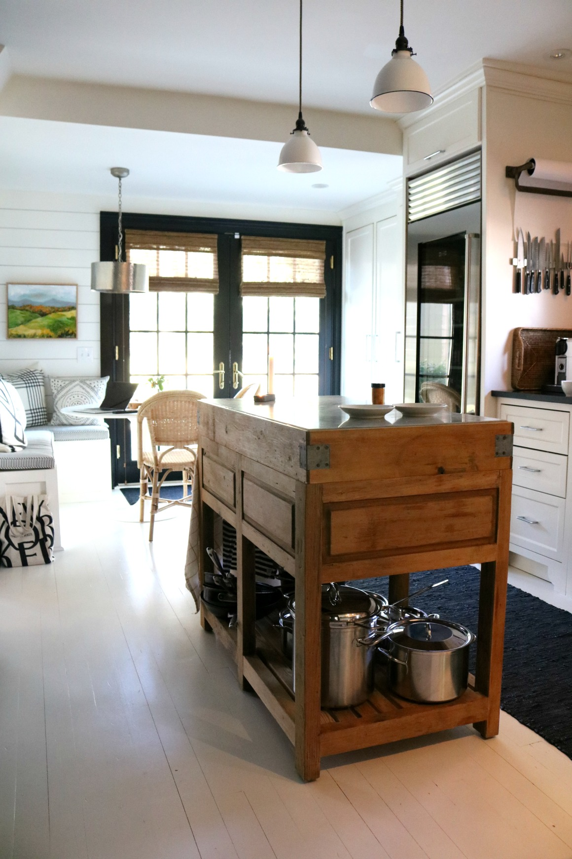 A Black and White Modern meets Vintage Connecticut Home Tour