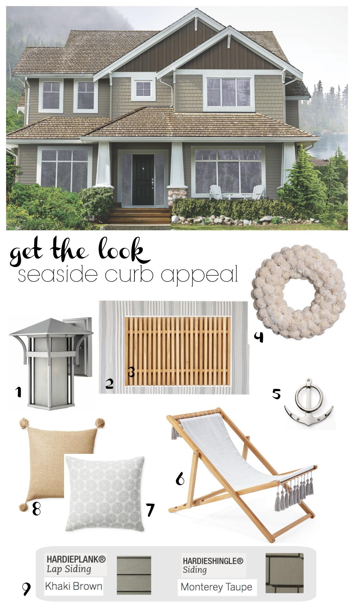 Get the Look- Seaside Curb Appeal- Hardieplank
