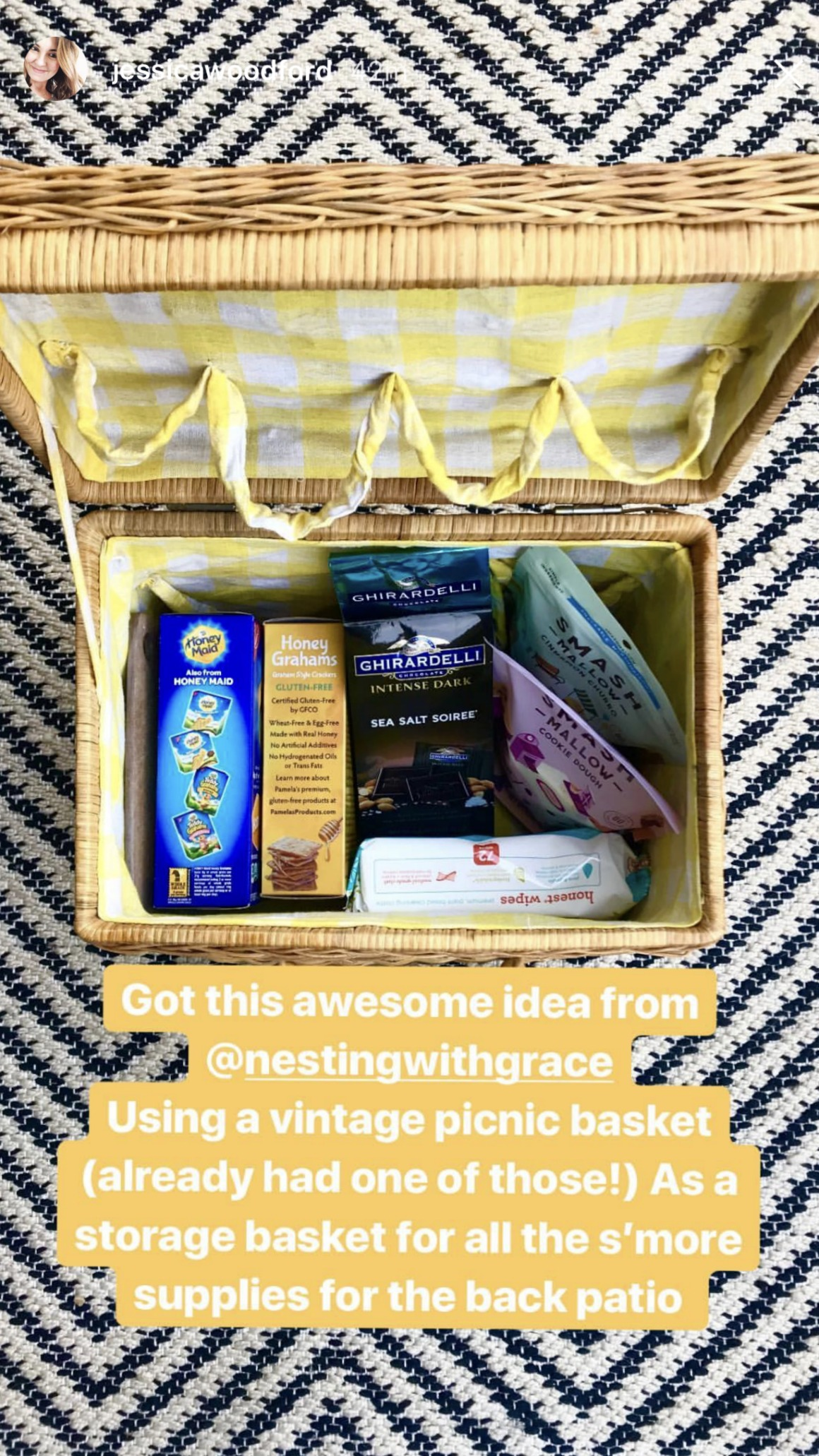 Mothers Day Gift Ideas- S'Mores Basket