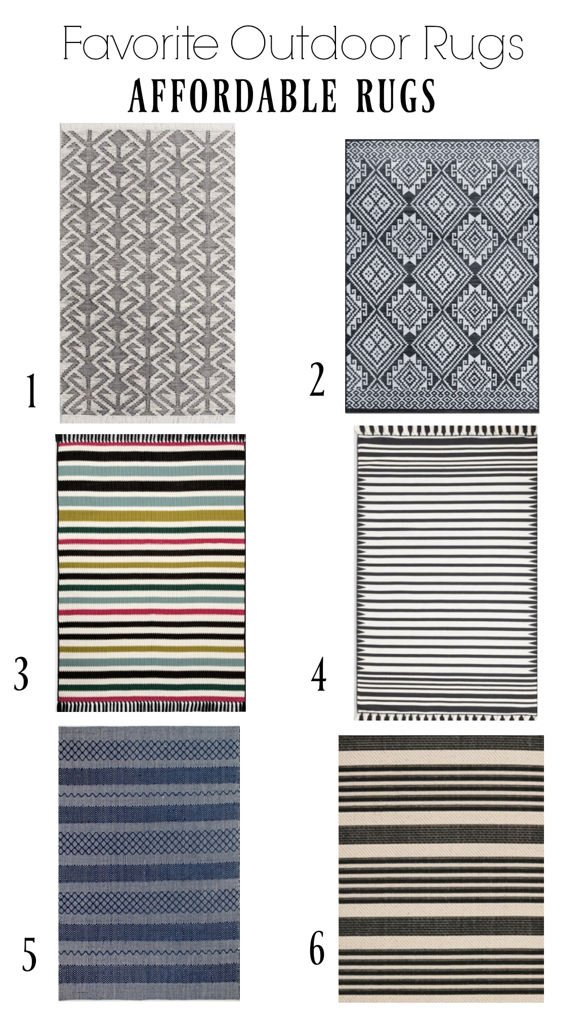 Outdoor Rugs- Affordable Favorites