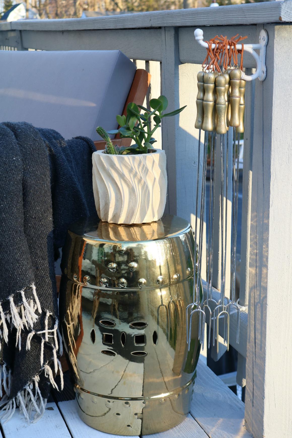 Smore' Stick- Storage Ideas for Backyard Fire pit