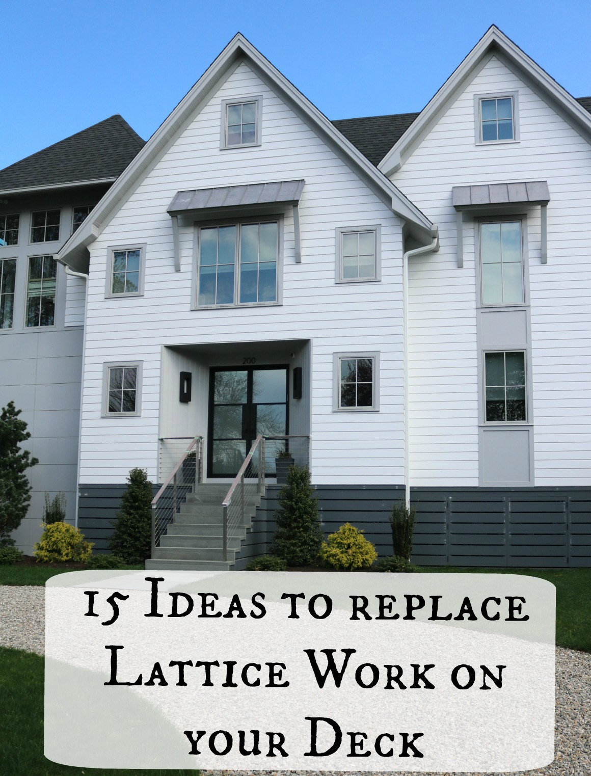 15 Ideas to replace Lattice on your Deck