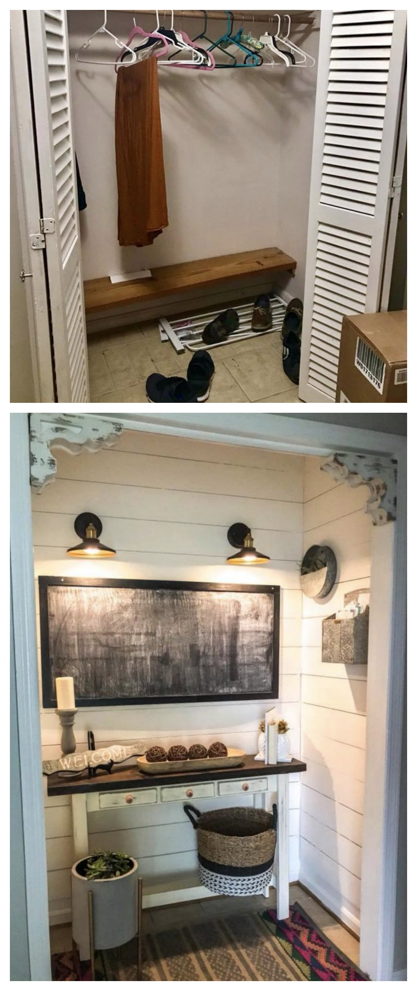 Friday Favorites- BEFORE and AFTER Closet Transformation