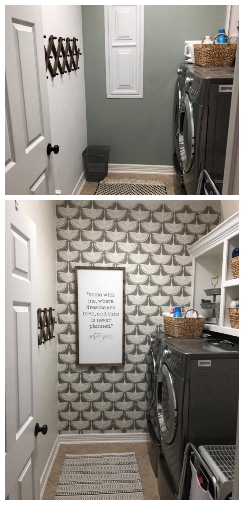 Wallpaper Accent Wall- Easy transformation