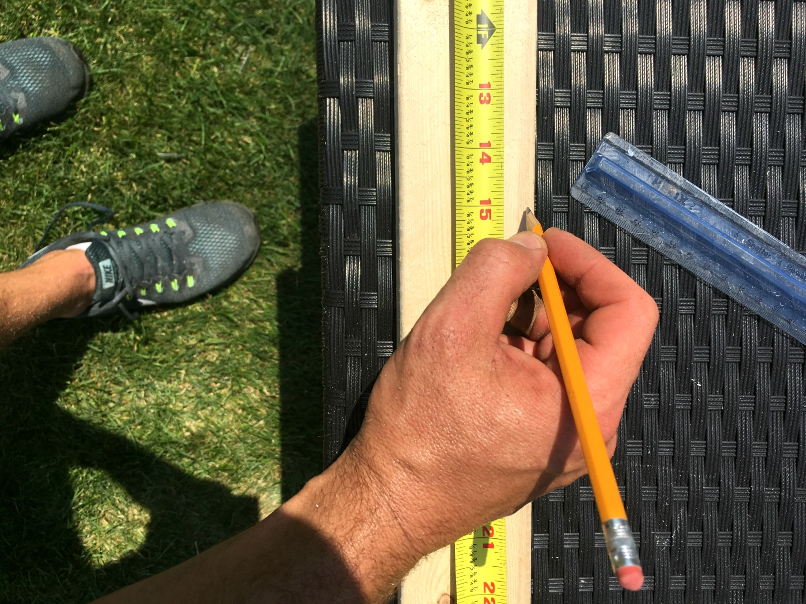 DIY Deck Makeover- Removing Lattice from Deck