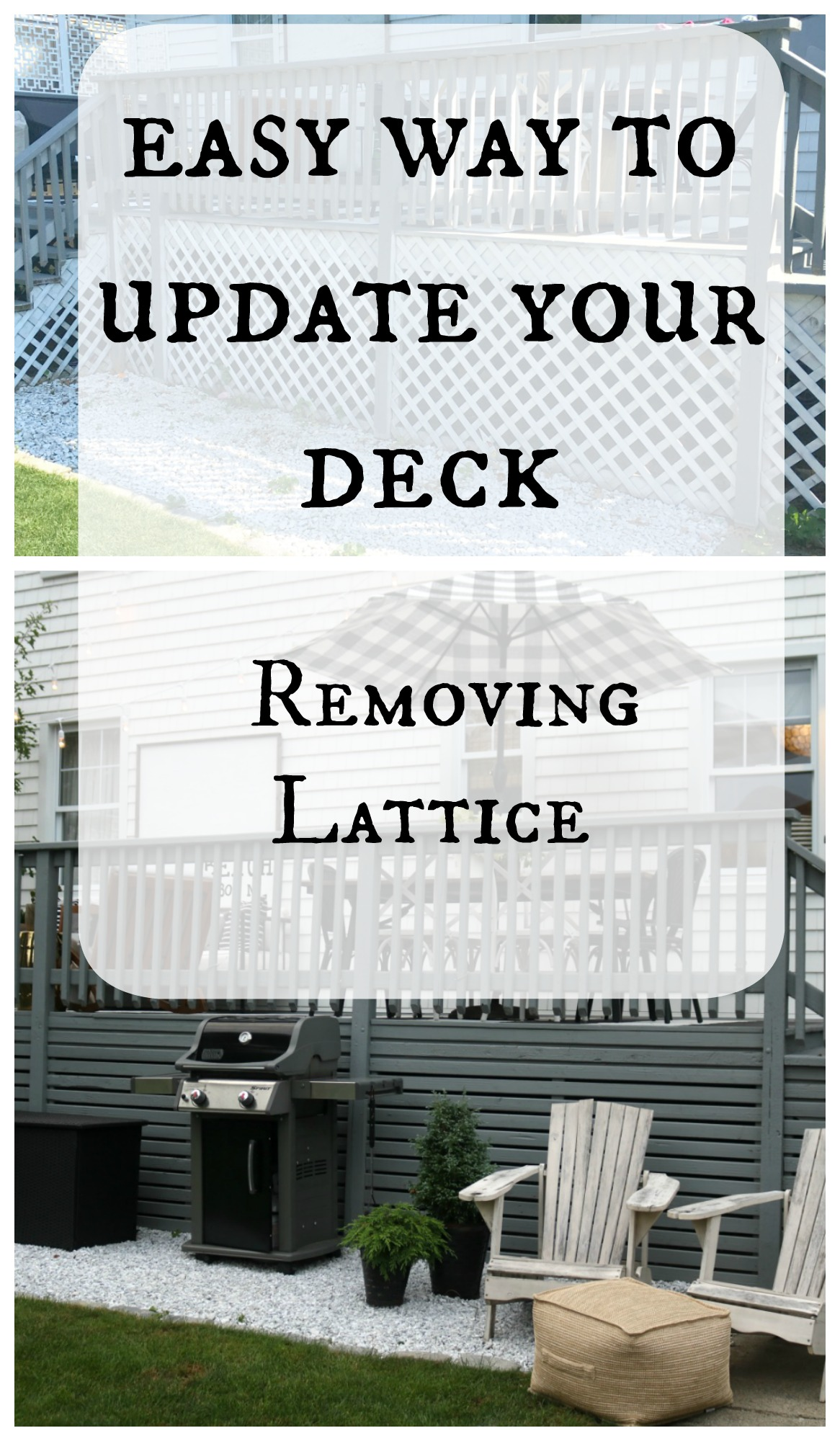 Easy way to update your deck- Removing the Lattice