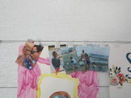 DIY Kids Art Wall- How to Display Art and Photos