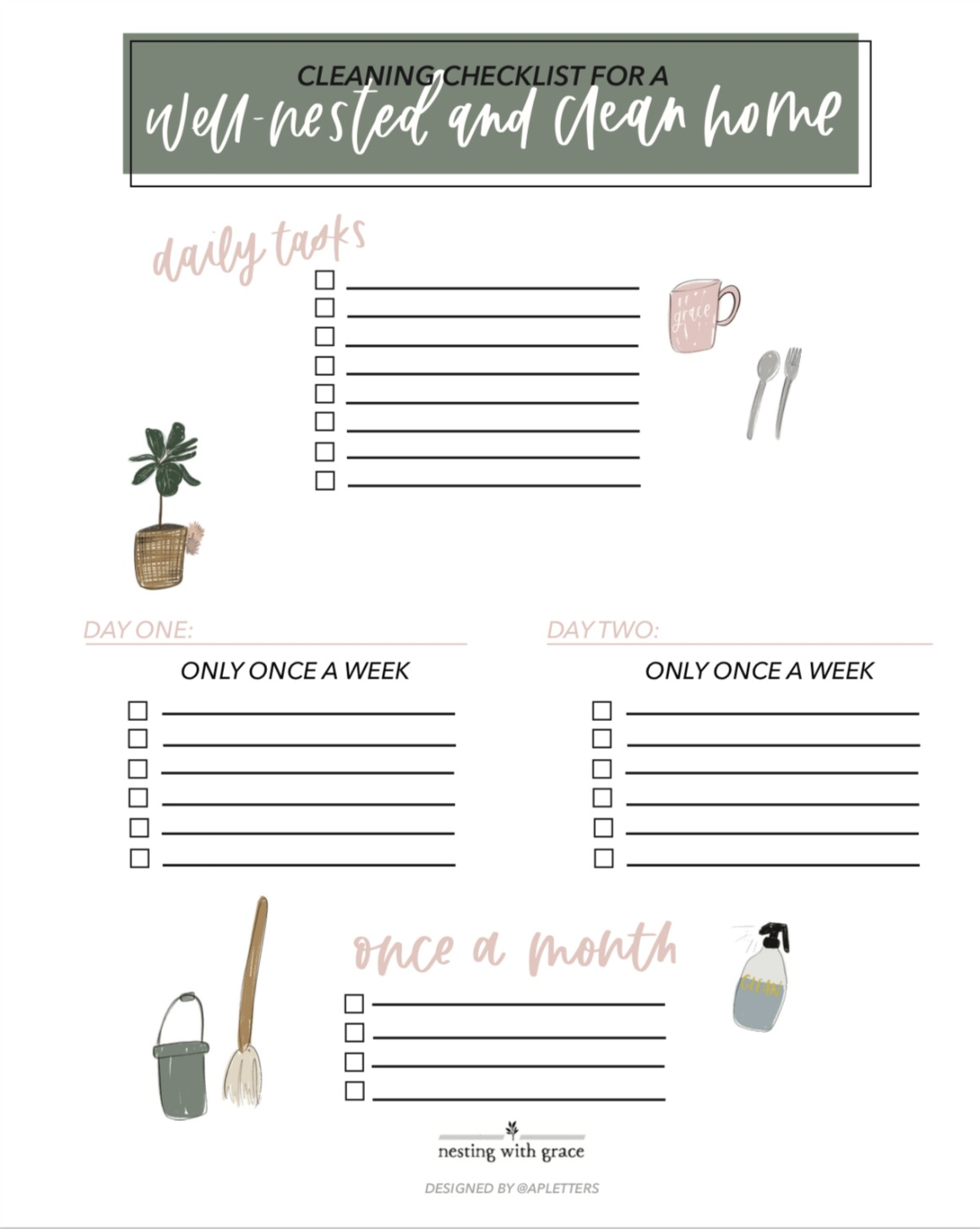 FREE Cleaning Checklist- Easy Tips for a Tidy Home
