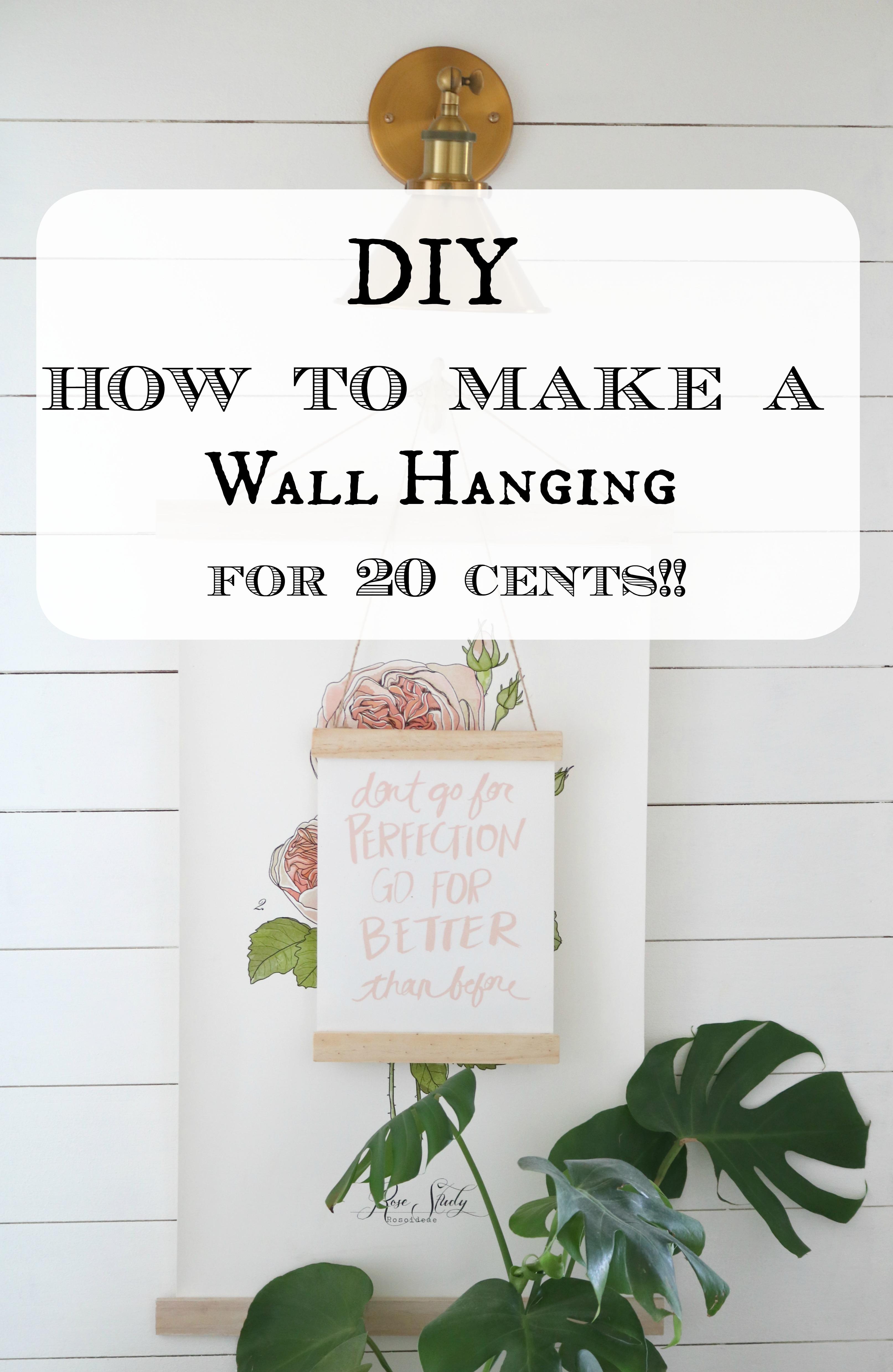 DIY 20 Cent Wall Hanging!