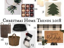 Christmas Home Decor Trends 2018