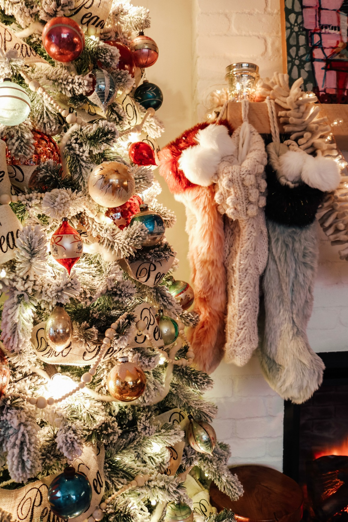 Our Vintage Inspired Christmas Tree And Stockings Nesting With Grace