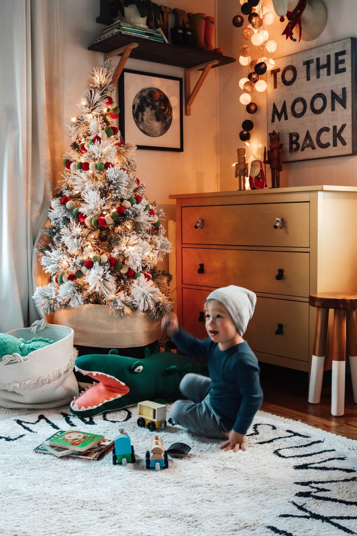 Winter Master Bedroom and Kids Christmas Room