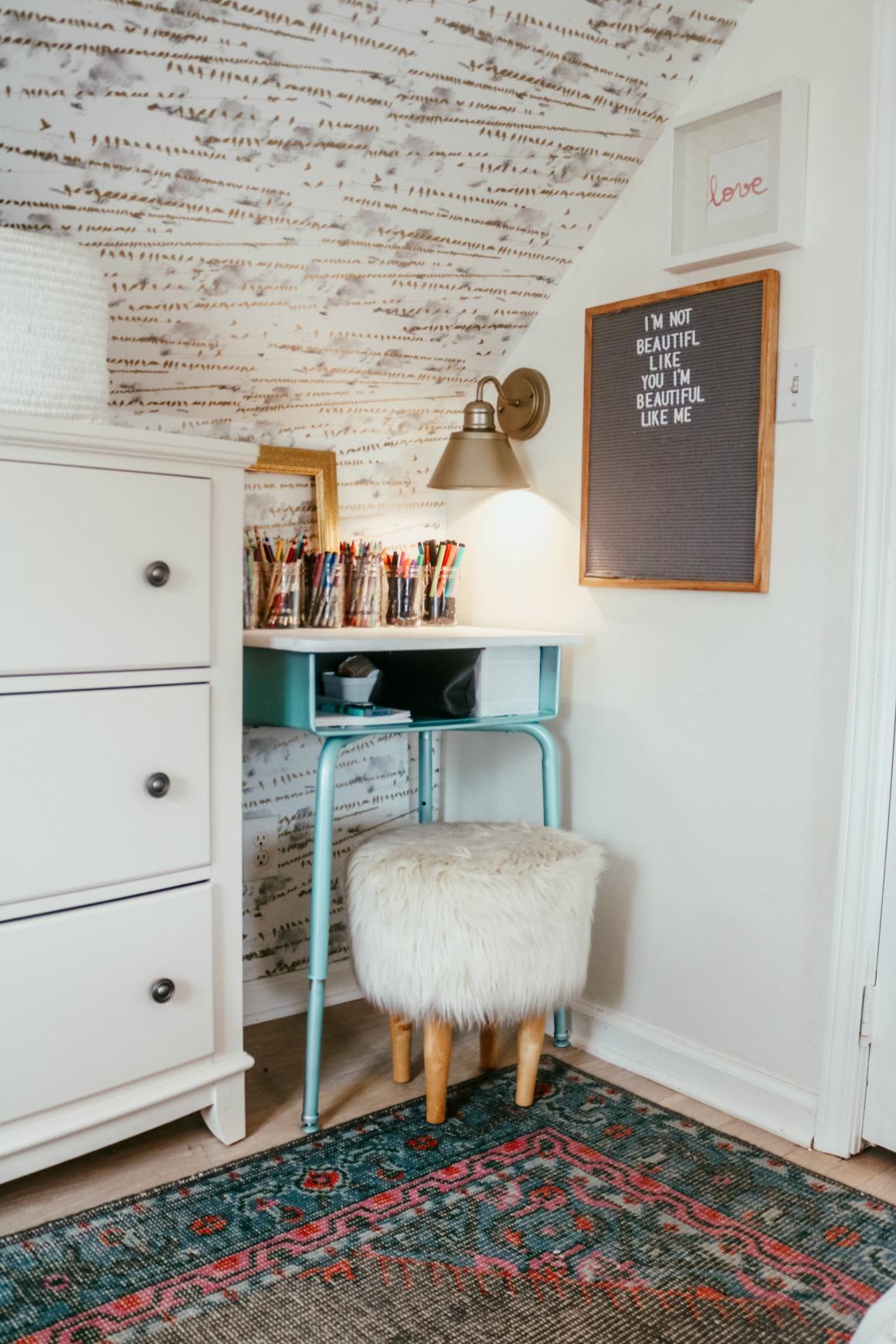 Marie Kondo Office Organizing Tips- Girls Desk