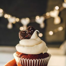Red Velvet Cupcakes with the Fluffiest Frosting!