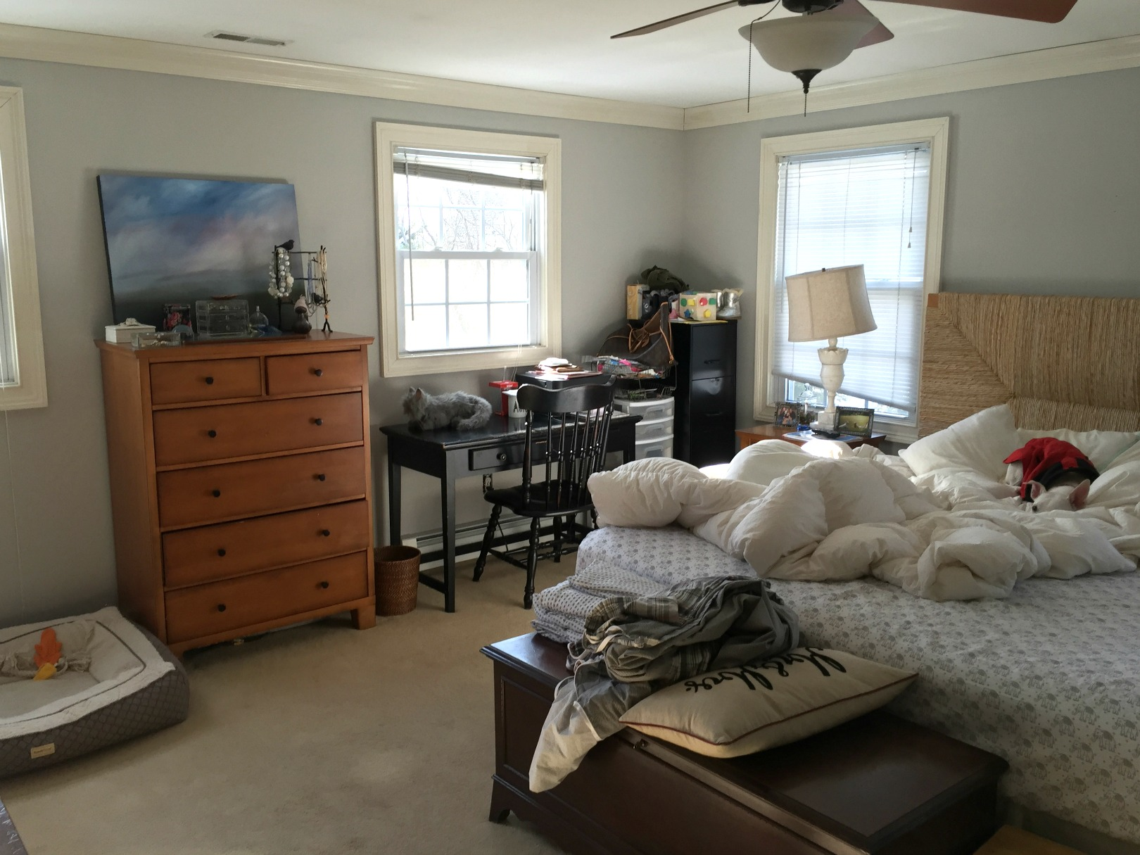BEFORE-Master Bedroom- Light and Bright Makeover