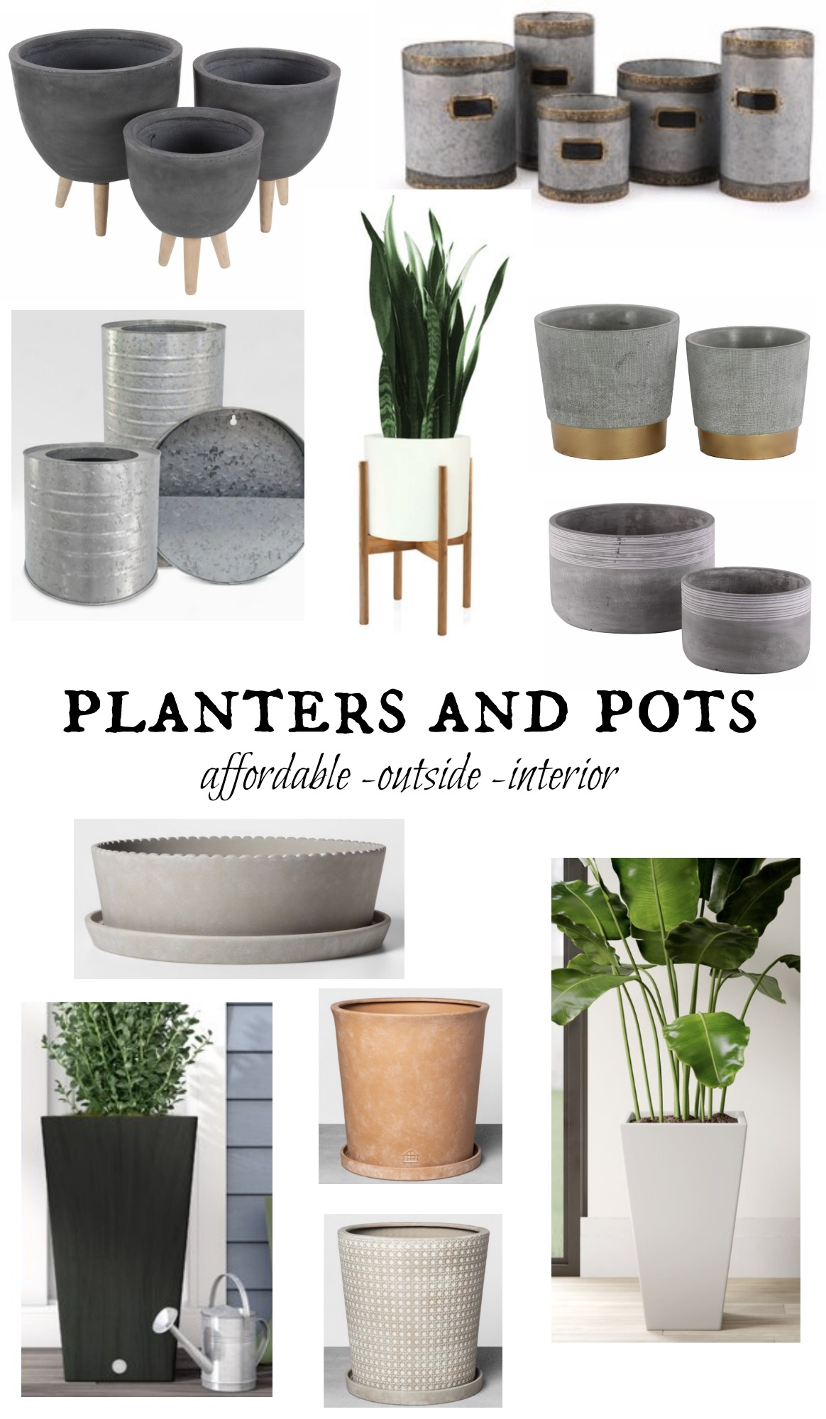 Favorite Outdoor Planters- How to Drill a Hole