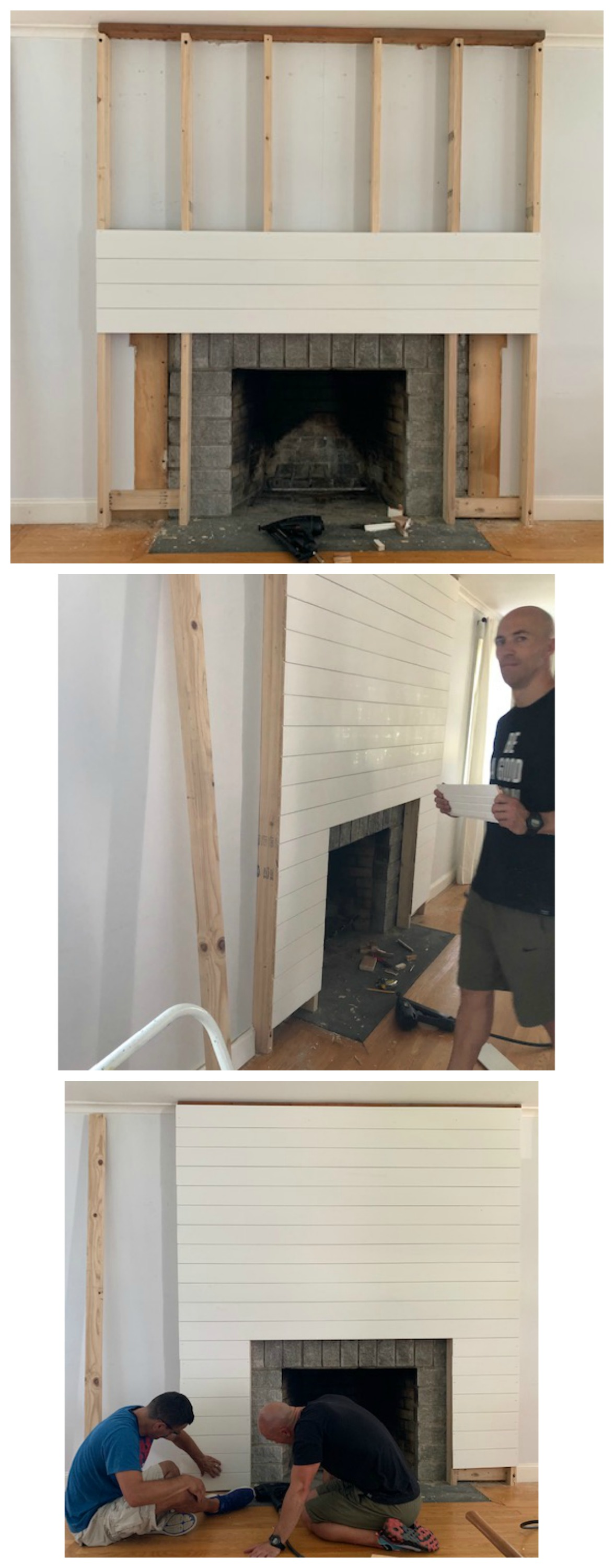 Shiplap Fireplace And Diy Mantle Ditched The Old Traditional Nesting With Grace