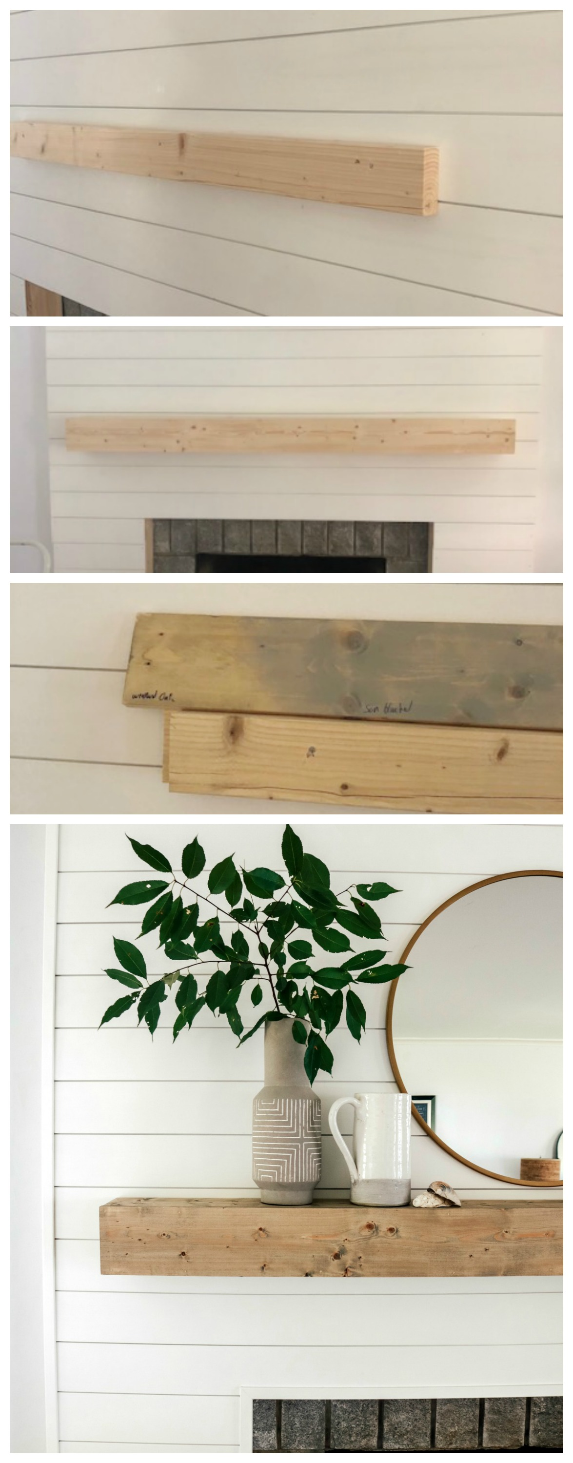 Shiplap Fireplace and Mantle DIY Tutorial