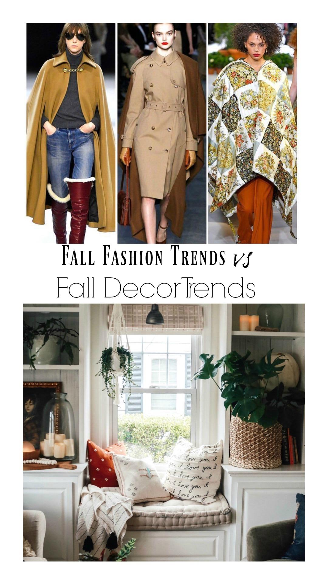 Fall Decor Trends vs Fall Fashion Trends