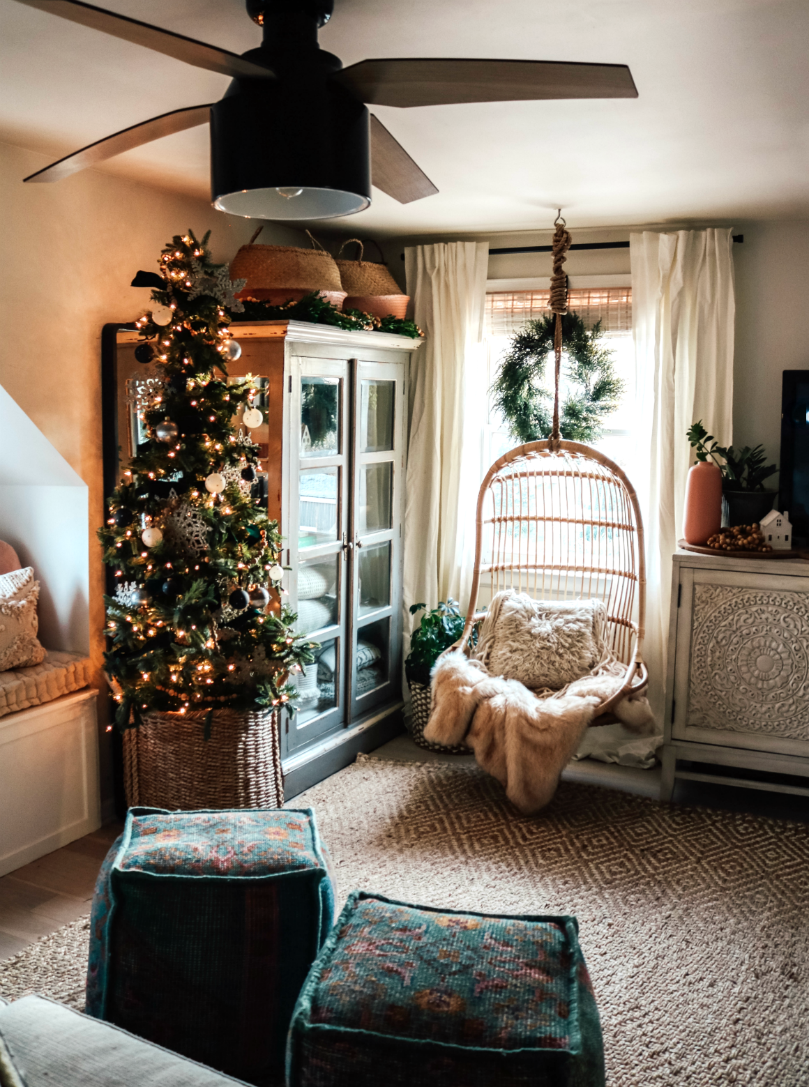 Christmas in our Small Family Room