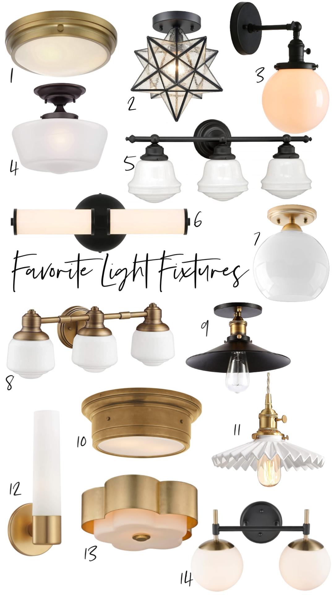 Favorite Affordable Light Fixtures