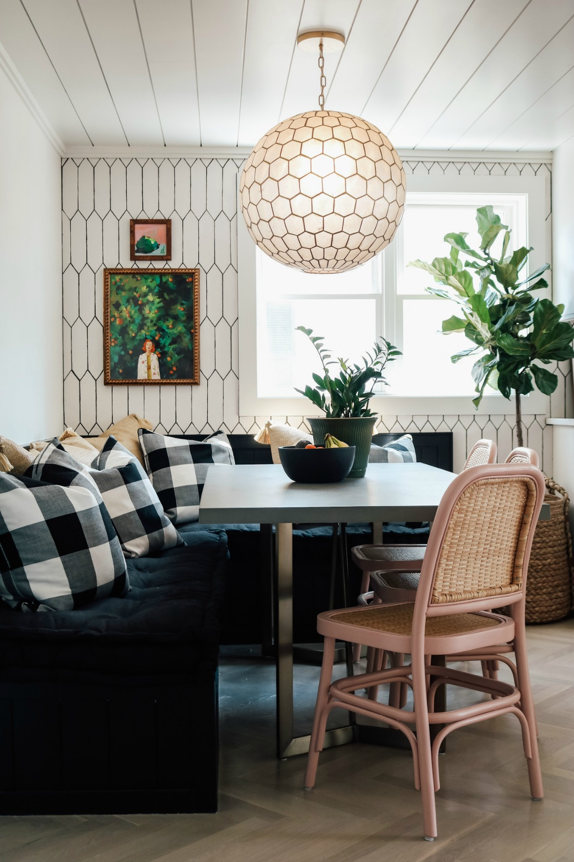 Our New Banquette Dining Space- Remodel Reveal