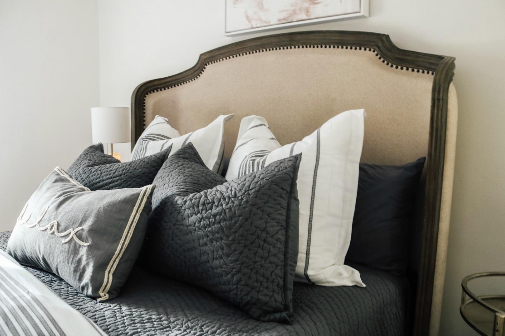 Fluffy Bedding in Cozy Master Bedroom