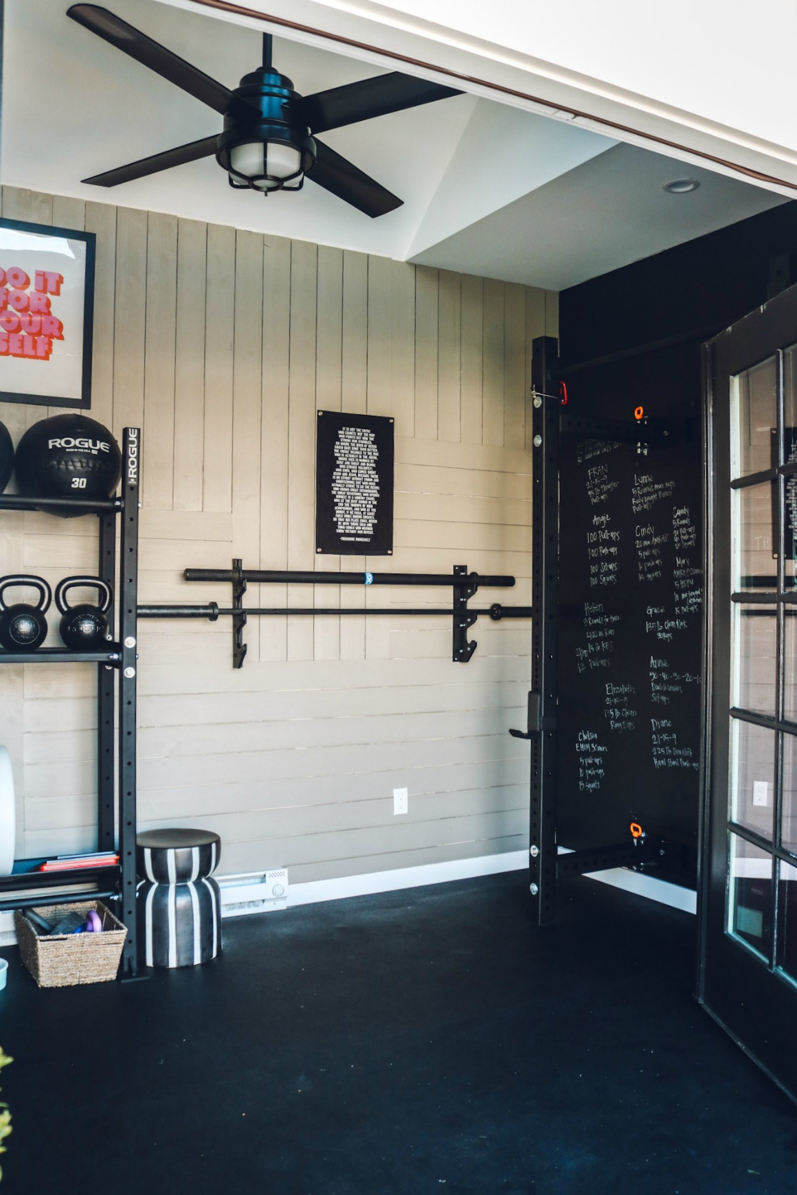 Home Gym Ideas- Gym Ideas- Industrial Decor- Gym