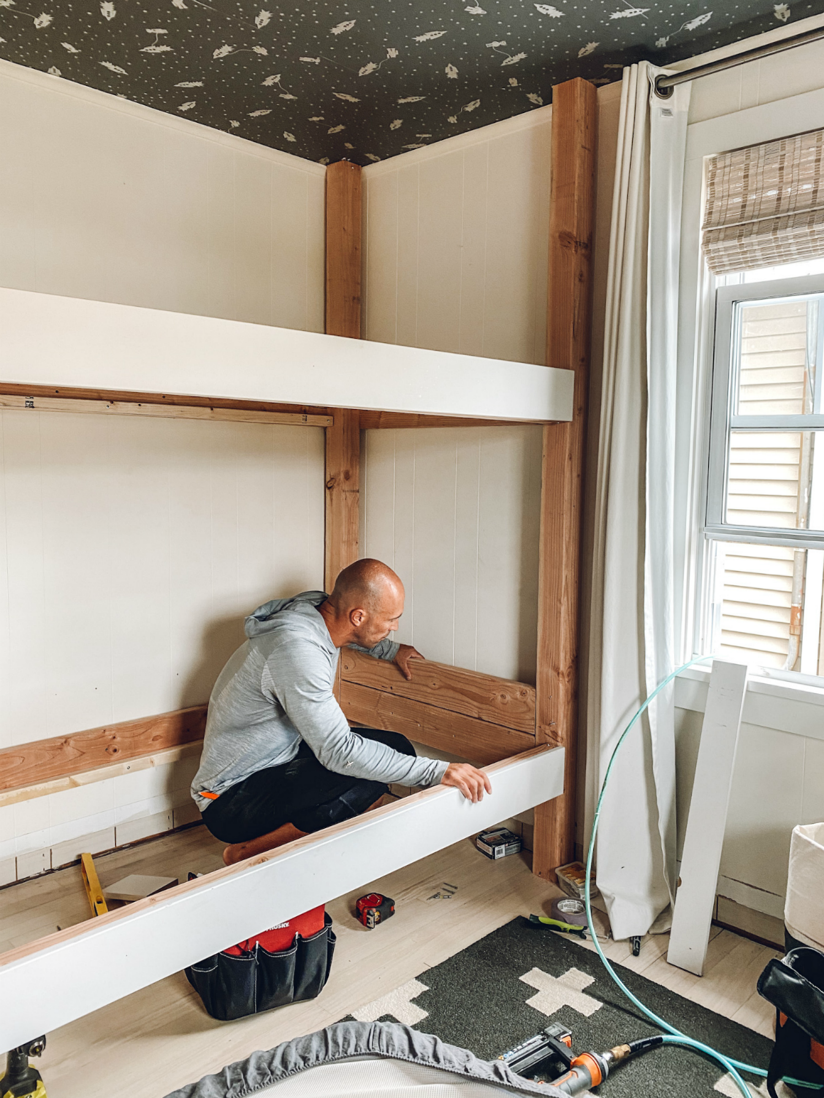 Bunk Beds- How to make a bunk bed- 44- DIY bunk bed- How to build a bunk bed