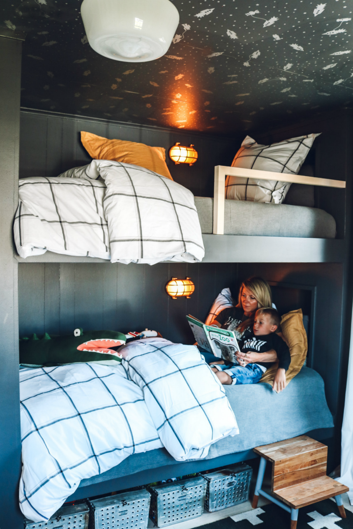 Bunk Bed DIY- Bedding for bunk bed- twin bedding ideas-